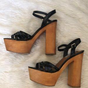 Steve Madden Shoes - Steve Madden wood platform heels